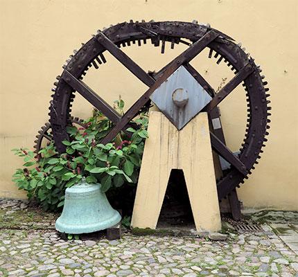 altes Mühlrad der Mostrichmühle