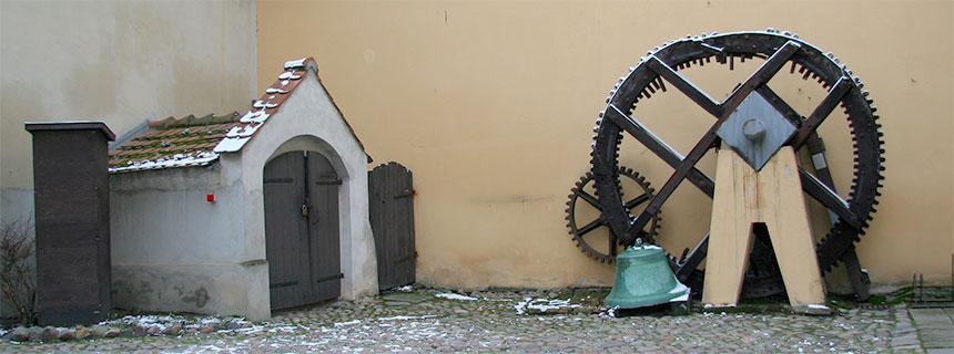 Mühlrad im Museumshof